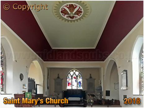 Stanford-on-Teme : Interior of Church of Saint Mary [2018]