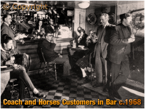 Weatheroak Hill : Customers in the bar of the Coach and Horses [c.1968]
