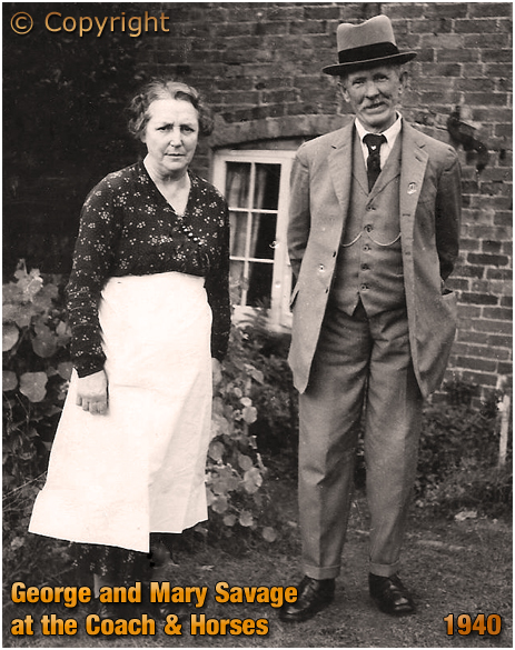 Weatheroak Hill : George and Mary Savage at the Coach and Horses [1940]