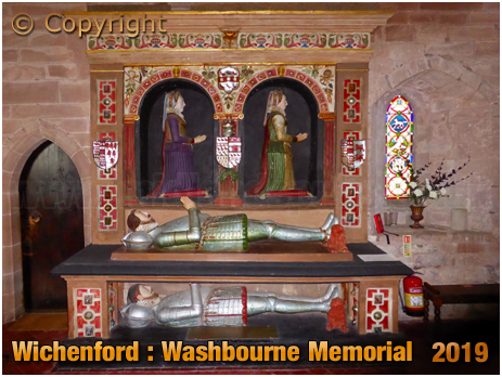 Wichenford : Washbourne Memorial in the Church of Saint Laurence [September 2019]