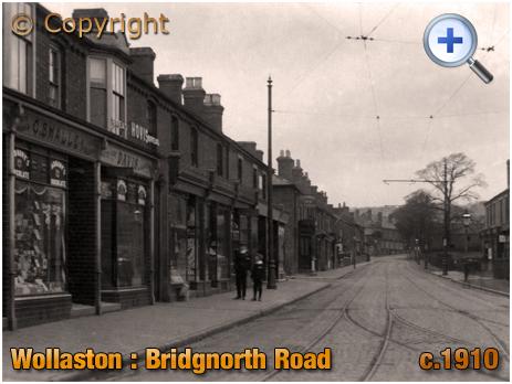 Wollaston : Shops on Bridgnorth Road [c.1910]