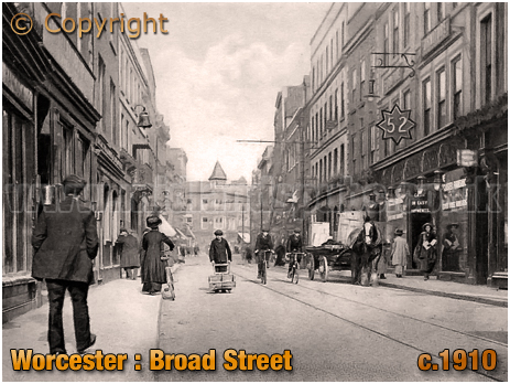 Worcester : Broad Street [c.1910]