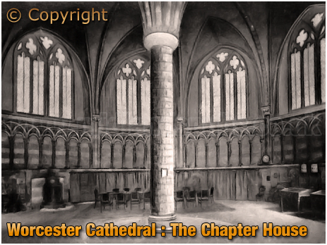 Worcester Cathedral : The Chapter House [c.1925]