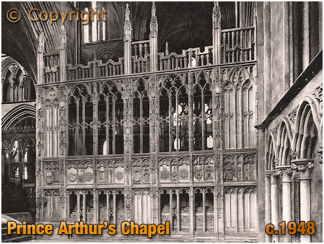Worcester Cathedral : Prince Arthur's Chapel [c.1948]