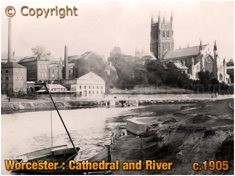 Worcester : Cathedral and River [c.1905]