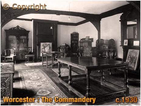 Worcester : Solar Room of The Commandery [c.1910]