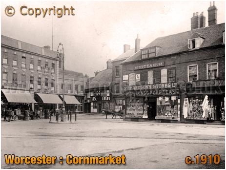 Worcester : Cornmarket [c.1910]