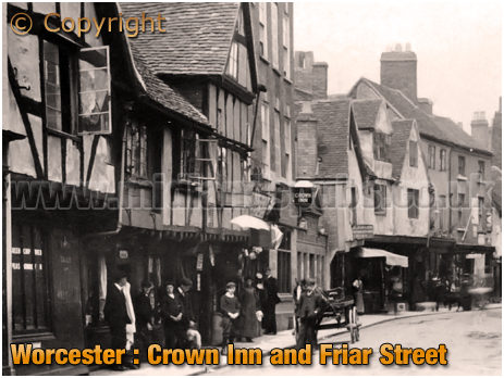 Worcester : Crown Inn and Friar Street [c.1908]