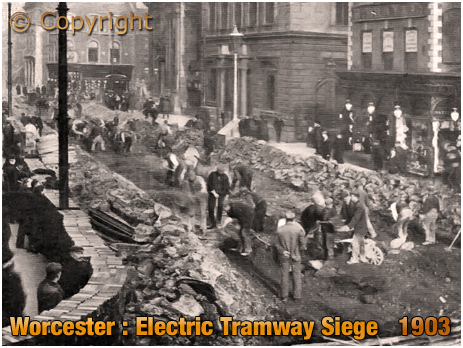 Worcester : Electric Tramway Siege [c.1903]
