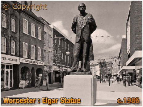 Worcester : Statue of Edward Elgar [c.1986]