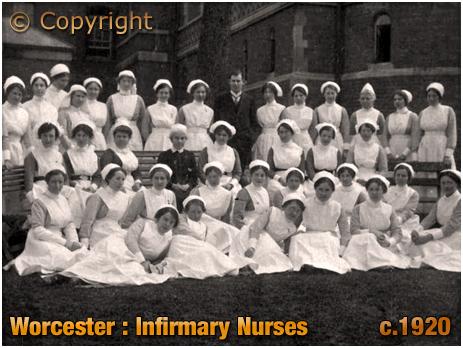Worcester : Infirmary Nurses [c.1920]