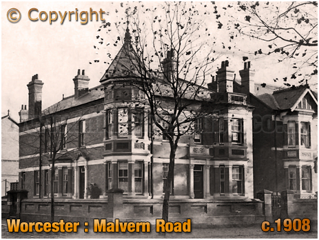 Worcester : Malvern Road and Vernon Park Road [c.1908]