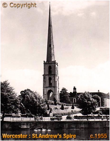 Worcester : Saint Andrew's Spire [c.1955]
