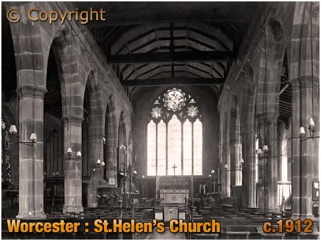 Worcester : Interior of Saint Helen's Church [c.1912]