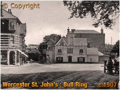 Worcester St. John's : Bull Ring [c.1907]