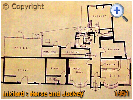 Inkford Brook : Building Plan showing the Horse and Jockey Inn [1951]