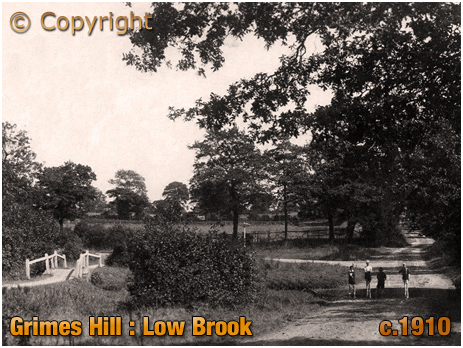 Wythall : Low Brook at Grimes Hill [c.1910]