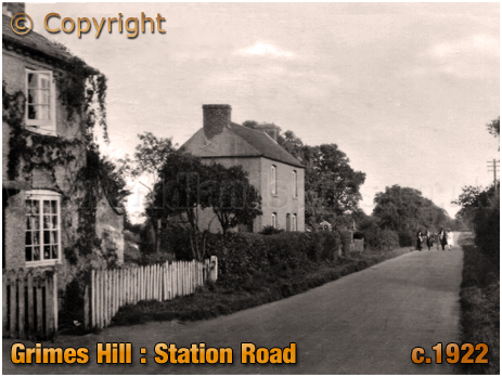 Wythall : Station Road at Grimes Hill [c.1922]