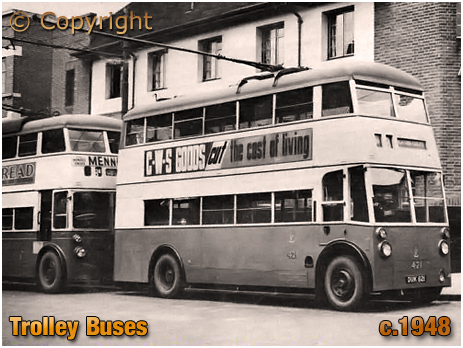 Wythall : Type of Trolley Bus to be found at the Transport Museum [c.1948]
