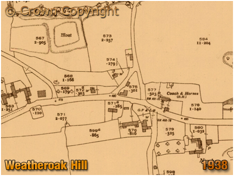 Wythall : Map of Weatheroak Hill [1938]